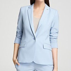 Theory Wool Baby Blue Gabrielle Career Blazer 10